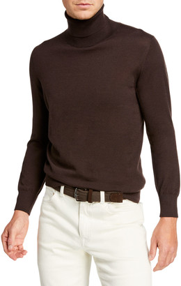 Brioni Men's Solid Cashmere Turtleneck Sweater
