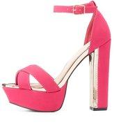 Charlotte Russe Gold-Trim Platform Sandals