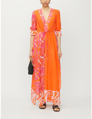 Emilio Pucci Graphic-pattern cotton-and-silk blend kaftan