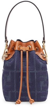 Fendi small denim Mon Tresor bucket bag