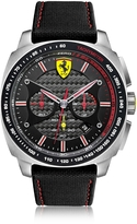 Ferrari Aero Evo Silver Tone Stainless Steel Case and Black Nylon Strap Men's Watch