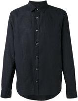 Closed plain shirt - men - Cotton/Linen/Flax - L