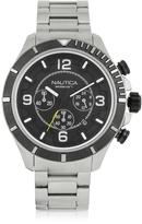 Nautica Silver Tone Stainless Steel Men's Bracelet Watch