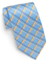 Burma Bibas Check Silk Tie & Gift Box