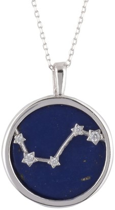 Latelita Zodiac Lapis Lazuli Gemstone Star Constellation Pendant Necklace Silver Aries