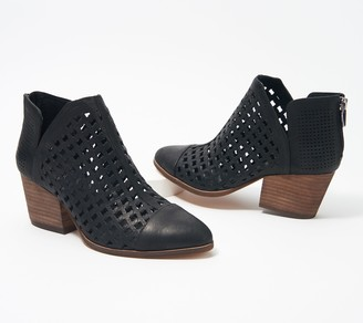 Vince Camuto Leather Cutout Booties - Neeja