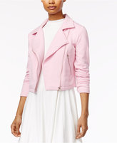 The Edit By Seventeen Juniors' Knit Moto Jacket, Created for Macy's
