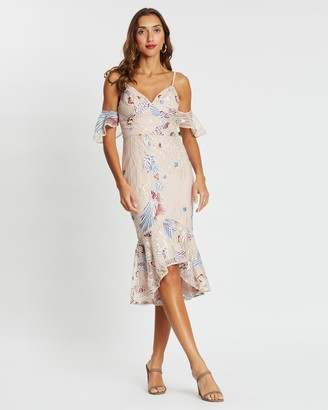 Bariano Luna Trumpet Dress