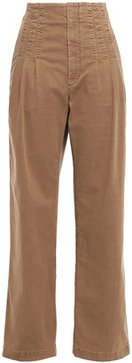 Brunello Cucinelli Pleated High-rise Straight-leg Jeans