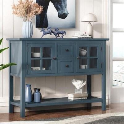 Longshore Tides Orrie 45 Console Table Color Blue Shopstyle