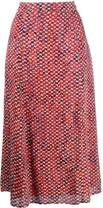 Lala Berlin Geometric Embroidered Skirt