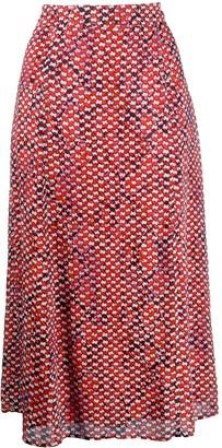 Lala Berlin geometric embroidered skirt
