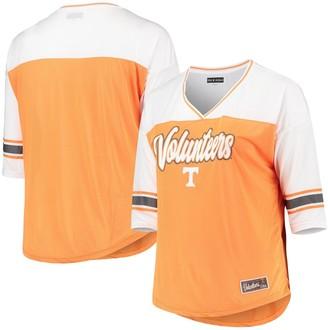 New Era Women's 5th & Ocean by Tennessee Orange Tennessee Volunteers Plus Size Mesh 3/4-Sleeve T-Shirt