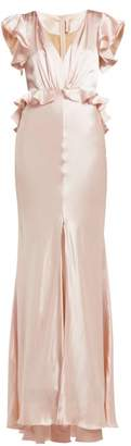 Maria Lucia Hohan Shirin Silk Charmeuse Maxi Dress - Womens - Light Pink
