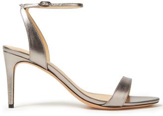 Alexandre Birman Willow 75 Metallic Leather Sandals