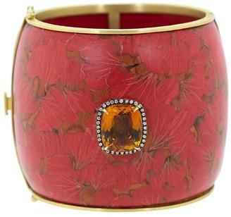 Silvia Furmanovich 18kt yellow gold Marquerty Ginko bangle bracelet