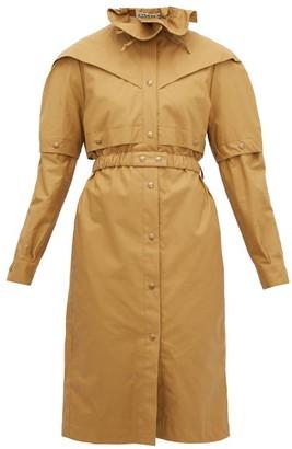 Symonds Pearmain - Belted Waxed-cotton Coat - Beige
