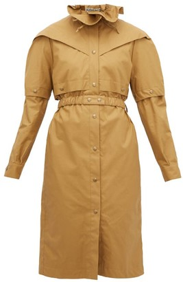 BEIGE Symonds Pearmain - Belted Waxed-cotton Coat - Womens