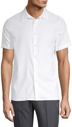 Perry Ellis Point Collar Button-Down Shirt