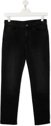 Douuod Kids TEEN mid-rise slim-fit jeans