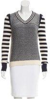Tory Burch Patterned V-Neck Sweater