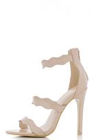 Quiz Nude Patent Wave Strap Sandals