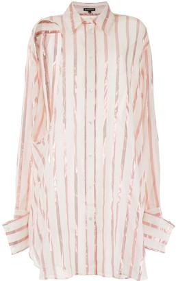 Ann Demeulemeester Striped Oversized Shirt