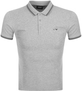Giorgio Armani Jeans Tipped Polo T Shirt Grey