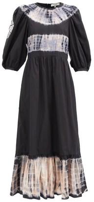 Sea Daria Tie-dyed Cotton-poplin Dress - Black Print