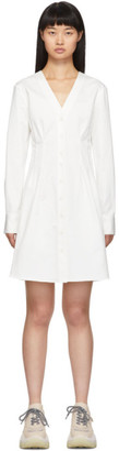 Tibi White Dominic Shirt Dress