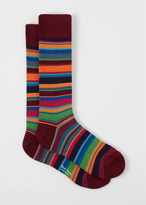 Paul Smith Oberyn Sock (Burgundy) Men's Crew Cut Socks Shoes