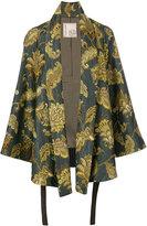 Antonio Marras leaves print kimono jacket - women - Cotton/Acrylic/Polyester/Viscose - 40