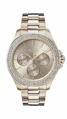 HUGO BOSS Womens Multi dial Quartz Watch with Rose Gold Strap 1502443