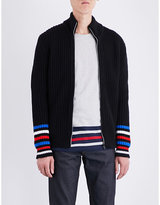 Tommy Hilfiger Tommy Editions stripe-detailed wool-blend cardigan