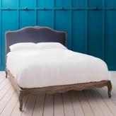 Graham and Green Antoinette Bed in Grey Velvet