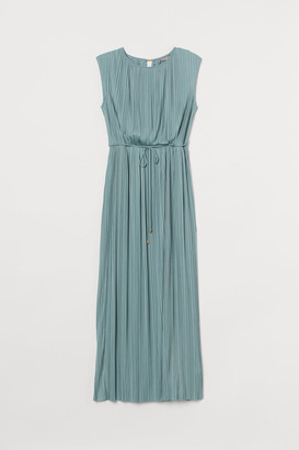 H&M H&M+ Pleated Long Dress - Turquoise