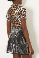Topshop Leopard High Neck Top