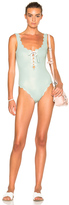 Marysia Swim FWRD Exclusive Palm Springs Lace Up Swimsuit