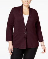 Alfani Plus Size Shawl-Collar Knit Jacket, Only at Macy's