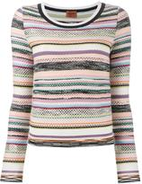 Missoni knitted stripe top - women - Rayon/Wool - 44