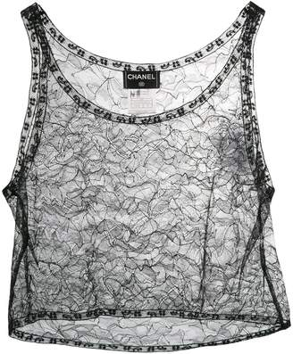 Chanel Pre-Owned 2000's lace cropped top
