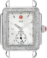 Michele Women's MW06V01A1025 Deco 16 Analog Display Swiss Quartz Silver Watch Head