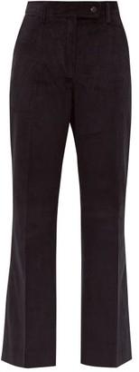 Acne Studios Patsyne Cropped Cotton-corduroy Trousers - Womens - Navy