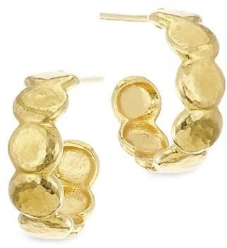 Gurhan 22K Gold Pebble Hoop Earrings