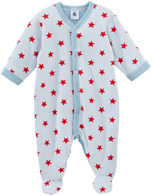 Petit Bateau Baby Boy Star Print Crawler