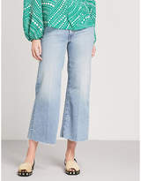 Mother The Roller wide-leg mid-rise jeans
