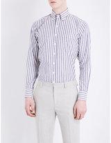 Drakes Striped Cotton Shirt