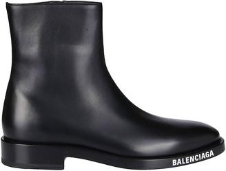 Balenciaga Logo Sole Ankle Boots