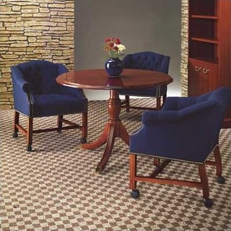 """Seavey Circular Conference Table Charlton Home Size: 3' 6"""" L Diameter"""