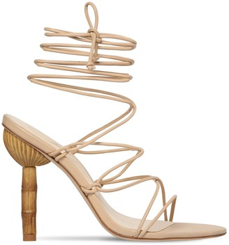 Cult Gaia 100mm Soleil Leather Lace Up Sandals